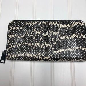 Coach leather snakeskin wallet